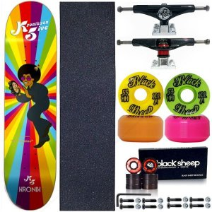 Skate Completo Profissional K5 Maple Kronik 8.0 + Roda BS Importada + Truck This Way
