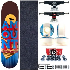 Skate Completo Shape Amount Bird 8.0 + Truck ThisWhay + Roda Next Moska
