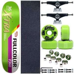 Skate Completo Profissional Maple 8.0 Kronik Xtra+ Roda BS Importada + Truck ThisWay