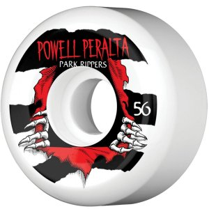 Roda Powell Peralta Skateboard Ripper 56mm 104a. Branca (com 4 rodas)