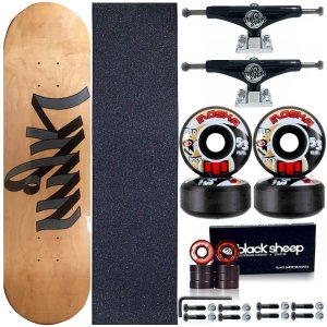 Skate Completo Profissional Maple 8.0 Milk Write+ Roda Moska 53mm + Truck ThisWay