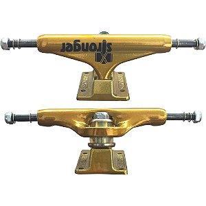 Truck Stronger Profissional 139mm Mid Gold (Par + Grátis 8 parafusos)