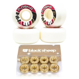 Roda Moska 52mm Rock + Rolamento Black Sheep Gold