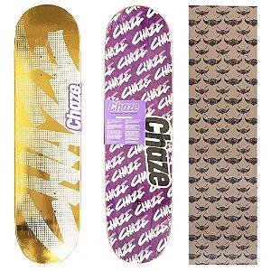 Shape Maple Chaze Skate Importado 8.0 Gold(Grátis Lixa Jessup Importada)