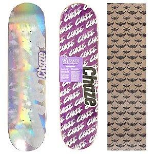 Shape Maple Chaze Skate Importado 8.0 Prata(Grátis Lixa Jessup Importada)