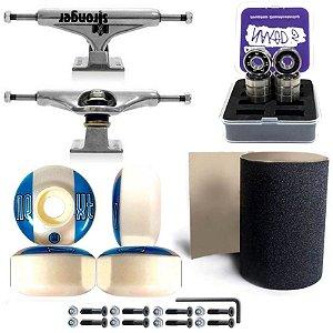 Truck Stronger 139mm + Roda Moska Next ll Moska + Rolamento Chaze + Lixa Jessup