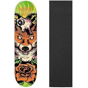 Shape de Skate Profissional Wood Ligth Fox 8.0 (Lixa de Brinde)