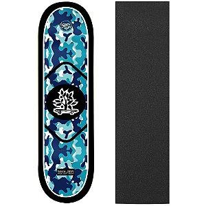 Shape de Skate Profissional Wood Ligth ArmyBlue 8.0 (Lixa de Brinde)