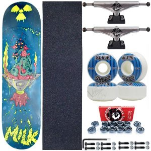 Skate Completo Shape Maple Milk Blue 8.0 + Truck ThisWay + Roda BS Importada