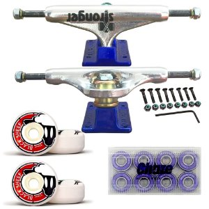 Truck Stronger Blue 139mm + Roda BS Fundida 55mm + Rolamento Chaze