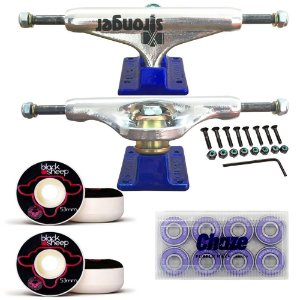 Truck Stronger Blue 139mm + Roda BS Fundida 53mm + Rolamento Chaze