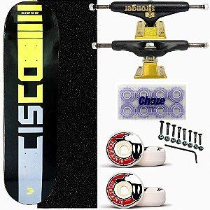 Skate Completo Profissional Cisco Black 8.0 Truck Stronger
