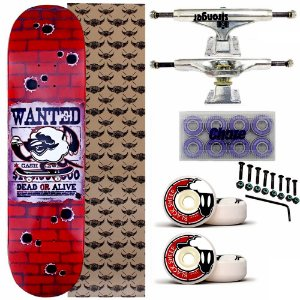 Skate Completo Maple BS Wanted 8.0 + Truck Stronger