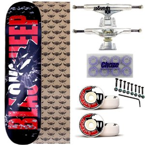 Skate Completo Maple Black Sheep Red 8.0 + Truck Stronger