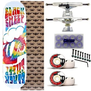 Skate Completo Maple Black Sheep Tie Dye 8.0 + Truck Stronger