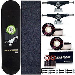 Skate Completo Maple Kronik Piolho 8.0 + Truck This Way 139mm + Roda BS 53mm