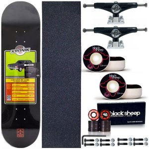 Skate Completo Maple Kronik W. Ramos 8.0 + Truck This Way 139mm + Roda BS 53mm