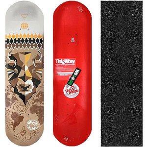 Shape de Skate Profissional This Way Bulls 8.0 (Lixa de Brinde)