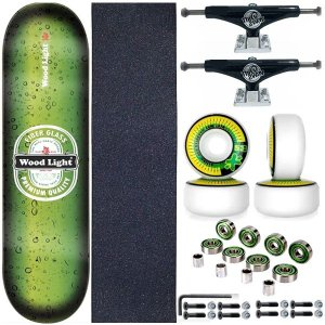 Skate Completo Shape Wood Light 8.0 Premium + Truck Black This Way
