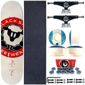 Skate Completo Shape Black Sheep White 8.0 + Truck Black ThisWhay