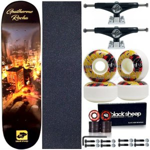 Skate Completo Maple BS City 8.0 + Truck Black This Way + Roda BS Importada 53mm