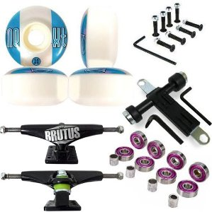 Truck Brutus Black 139mm + Roda Next ll 53mm + Chave + Abec 7 + Parafusos