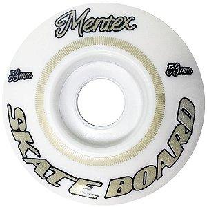 Roda para Skate Mentex 53mm Branca ( jogo 4 rodas )
