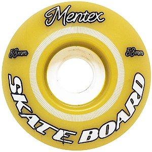 Roda para Skate Mentex 53mm Amarela ( jogo 4 rodas )