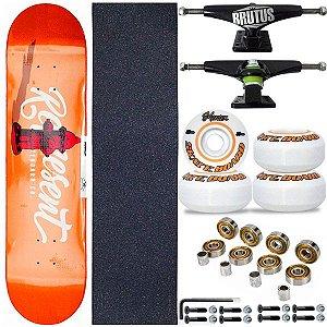 Skate Completo Shape Profissional Represent Orange 8.0