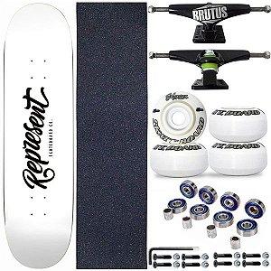 Skate Completo Shape Profissional Represent White 8.0