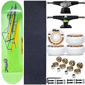 Skate Completo Shape Profissional Represent Green 8.0