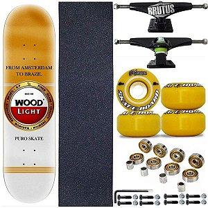 Skate Profissional Completo Shape Wood Light Amst 8.0
