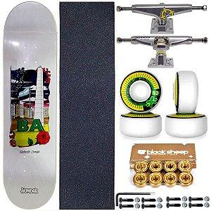 Skate Completo Shape Maple Hondar 8.0 Roberto Souza + Truck Intruder