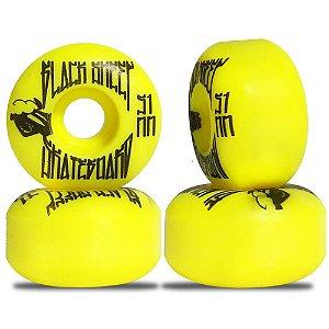 Roda para Skate Black Sheep Color Injetada 51mm Amarela ( jogo 4 rodas )