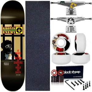 Skate Completo Maple Kronik 8.0 Enemy + Roda Moska + Truck Intruder