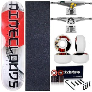 Skate Completo Maple Nineclouds 8.0 Ippon + Roda Moska + Truck Intruder