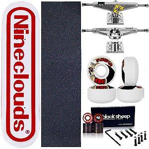 Skate Completo Maple Nineclouds 8.0 Game + Roda Moska + Truck Intruder
