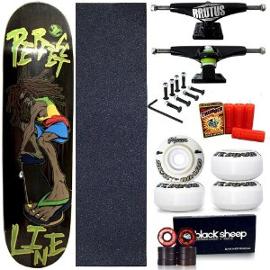 Skate Profissional Completo Shape Perfect Line Street 8.0 + Vela Thunder Skate