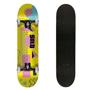 Skate Montado Solo Decks Semi Profissional Colagem Yellow