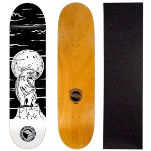 Shape Cisco Skate Fiber Decks Serie Animais Noturnos Fox 8.0 (Lixa de Brinde)