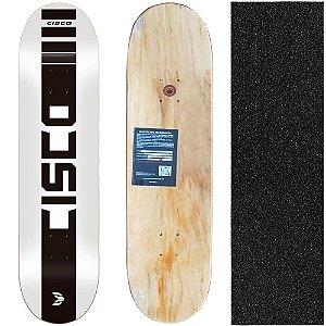 Shape Cisco Skate Marfim Company White 8.0 + Lixa de brinde