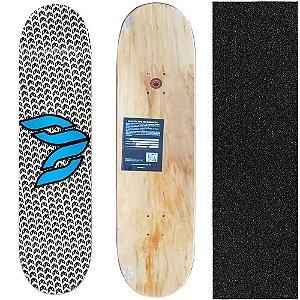 Shape Cisco Skate Marfim Logo Blue 8.0 + Lixa de brinde