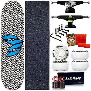 Skate Profissional Completo Shape Cisco Logo Blue 8.0 + Vela Thunder Skate