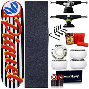 Skate Profissional Completo Shape Cisco Paulo Piquet SP 8.0 + Vela Thunder Skate