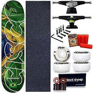 Skate Profissional Completo Shape Cisco Braza 8.0 + Vela Thunder Skate
