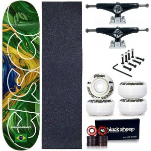 Skate Profissional Completo Shape Cisco Braza 8.0 + Truck This Way