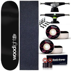 Skate Profissional Completo Shape Wood Light 8.0 Blackout