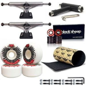 Truck 149mm This Way Prata + Roda Moska 56mm + Rolamento BS Black + Lixa Jessup + Chave T