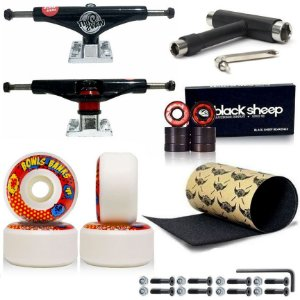 Truck 149mm This Way Black + Roda Moska 58mm + Rolamento BS Black + Lixa Jessup + Chave T