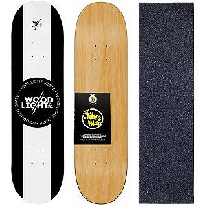 Shape de Skate Profissional Wood Light 8.0 White Center + Lixa de Brinde